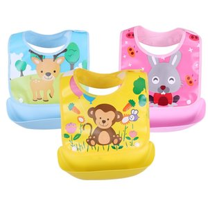 Detachable Baby Bibs Waterproof Baby Toddler Kids Aprons Bib Infant Saliva Towels Cute Baby Cartoon Feeding Bib 20pcs per Lot