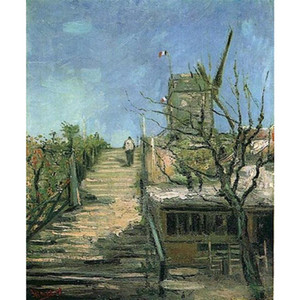 Ручной работы картины маслом Винсент Ван Гог ветряная мельница на Монмартре холст для декора стен высокого качества