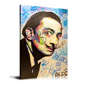 Drucken HD Alec Monopoly-Ölgemälde-Ausgangsdekoration-Wand-Kunst auf Leinwand Salvador Dali Unframed