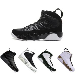 Newest 9 9s men basketball shoes sports 2010 RELEASE Bred Lakers PE OG space jam high Black white High shoes sneaker 41-47