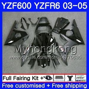 Кузов Для YAMAHA YZF600 YZF R6 03 04 05 YZFR6 03 Кузов 228HM.2 YZF 600 R 6 YZF-600 YZF-R6 Заводской черный горячий 2003 2004 2005 Комплект обтекателей