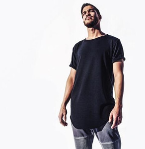 Camiseta extendida para hombre Camisetas de hip hop de palangre Justin Bieber Swag Ropa Diseñador Harajuku Rock Camiseta Homme de manga corta Venta caliente