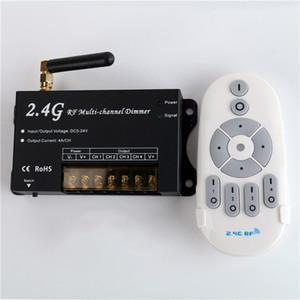 Светодиодный диммер 2.4G RF Remote DC12-24V 4 Zone 4A / CH 4CH Беспроводной радиочастотный пульт для светодиодной ленты Dimmer