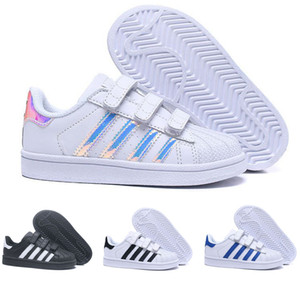 Adidas  Superstar Brand Children Superstar shoes Original White Gold baby kids Superstars Sneakers Originals Super Star niñas boys Sports kids shoes 24-35