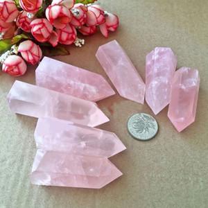 1 stück 100% Natürliche Rock Pink Rosenquarz Kristall Stein Punkt Heilung Kristall Stein 50-60mm