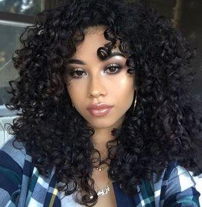 горячие бразильские волосы вьющиеся парики моделирование человеческих волос афро кудрявый вьющиеся полный парик бесплатная доставка на складе