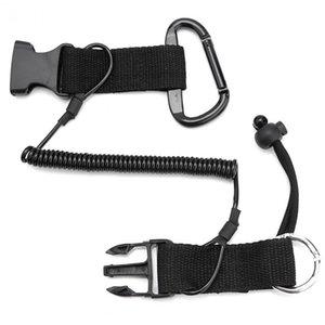 Cámara de buceo cuba de seguridad Hebilla de cordón elástico Buckle Accesorios de buceo Negro Hebilla de clip de hebilla de nylon TPU para cámara de buceo