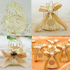 Новый свадебный коробка благосклонности европейский творческий золото Matel коробки романтический кованого железа птичья клетка свадьба конфеты коробка олова коробка Оптовая свадебные сувениры