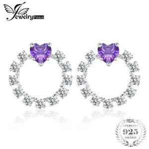 JewelryPalace Love Heart 1.1ct Erstellt Alexandrit Sapphire Ohrstecker 925 Sterling Silber für Frauen Klassische Fine JewelryY1882503