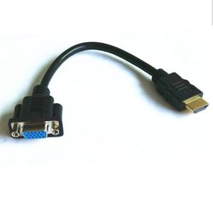 미니 HDMI MALE에서 VGA 15PIN FEMALE PLUG ADAPTER CABLE CONNECTOR LINK