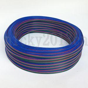 3528 5050 RGB LED 스트립 라이트 용 100 미터 4pin RGB 확장 와이어 케이블 커넥터