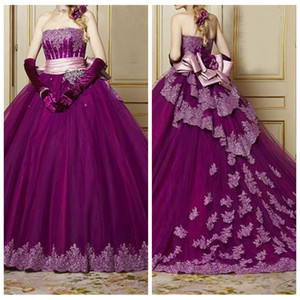 2021 Sweetheart Lace Appliques Ball Gown Quinceanera Abiti perline Paillettes Plus Size Sweet Prom Pageant Debutante Dress Party Gown