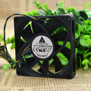For 8015 Delta EFB0812HHB 12V 0.4A four-line pwm intelligent temperature control fan 8 cm