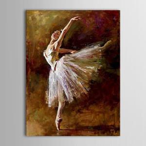 Unframed Картина Маслом Ручной Работы Ручная Роспись Современный Абстрактный Красивая Сексуальная Балерина Девушка Танец Холст Живопись Холст