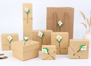 [Simple Seven] Muji Style Necklace Box Box، Trend Watch Case، Nice Jewelry Box for Bracelet ، عرض مهرجان Calla Lily Pendant