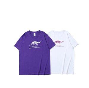 2018 Frühling Sommer Xieruis Dinosaurier Gedruckt Frauen Männer Grundlegende T shirts tees Hiphop Stil Männer 100% Baumwolle Casual t-shirt