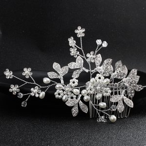 Newest Fashion Flower Clover Crystal Hair Combs Handmade Wedding Hair Jewelry Accessories Head Clips Hairpin Headpieces JCH180