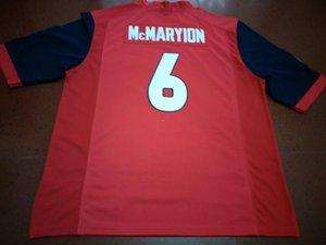Hombres Fresno State Bulldogs Marcus McMaryion # 6 bordado completo real College Jersey Tamaño S-4XL o personalizada cualquier nombre o número jersey
