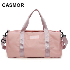 CASMOR Large Capacity New Bag Bags Women Female 2018 Pu Canvas Fashion Leather Duffle Hand Bag Travel Weekend Travel For Eldri