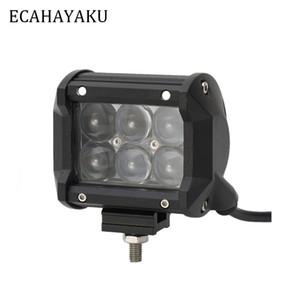 ECAHAYAKU 1 pcs 4 polegadas 30 W 4D LED Barra de Luz de Trabalho para Barco Trator Off-Road 4WD 4x4 Caminhão SUV ATV Spot Feixe de inundação 12 V 24 v lâmpada de nevoeiro