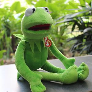 40 centímetros Kermit Plush Toys TY Beanie Boos Sesame Street Brinquedos Sapo bichos de Kermit Toy Plush Frog boneca