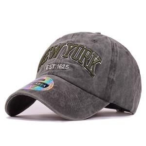 Ковбойские бейсбольные кепки для женщин Мужчины Casquette Peaked Caps Регулируемые повседневные защелки Шапки Изогнутые спортивные шапки New York Washed Golf Солнцезащитный козырек