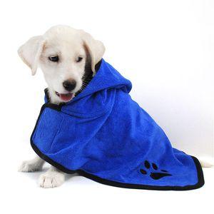 Albornoz para perro de alta calidad ropa de perro caliente Súper absorbente para mascotas Toalla para toallas de bordado Cat Toalla para aseo de mascotas Producto