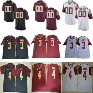 Mens NCAA ACC FSU Derwin James College Camisetas de fútbol # 2 Deion Sanders 12 Deondre Francois Florida State Seminoles Jersey S-3XL