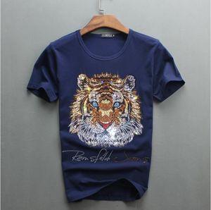 2018 new Top quality COTTON luxury diamond design men tshirt short sleeve t-shirt ckyf