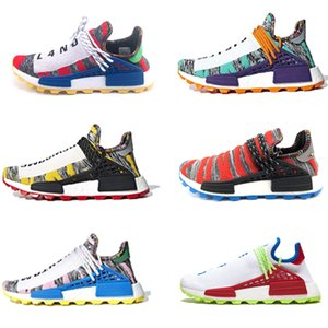 Adidas nmd human race Hu Corrida Humana Pharrell Williams NERD traniers Sapatos Homem Mulheres Designs Correndo Jogging Caminhadas Sapatos Sneakers tênis esportivos