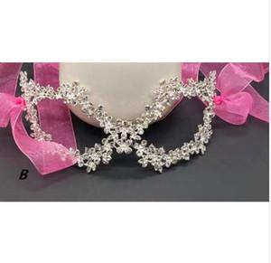 DIY Rhinestone di cristallo maschera veneziana maschere mascherata donne sexy metallo eyemask matrimonio fantasia palla partito maschera puntelli di Natale