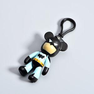Iron Man Batman Keychain voiture sac à dos de bande dessinée pendentif créatif ours