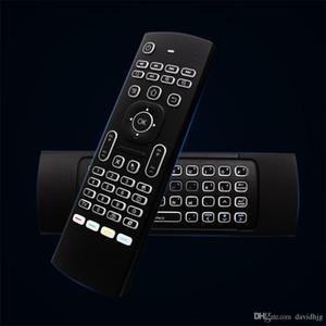 MX3 Hava Fare Arka MX3 Kablosuz Klavye Android TV Box Için 2.4G IR Öğrenme Fly Hava Fare Arkadan Aydınlatmalı