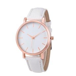 de moda em couro simples e popular Unisex estudantes homens mulheres senhora lazer relógios vestido ocasional relógios de pulso do esporte de quartzo para homens mulheres
