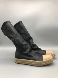 Top qualidade real imagem Cow Muscle chiclete Outlet Rock De pele de Carneiro 2018 Meias de luxo Mulheres UNISEX e homens botas de rua