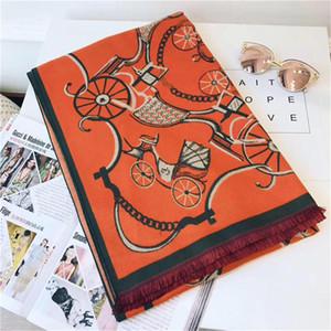 Sciarpa Per le donne Modello di auto di lusso Modello Cashmere Designer Sciarpe spesse Sciarpe lunghe calde 3 Dimensioni del colore 180X70CM Top Quality B-250
