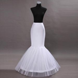 Barato Em Estoque Um Hoop Babado Sereia Anáguas Nupcial Crinolina Para Sereia Vestidos de Casamento Prom acessórios CPA201