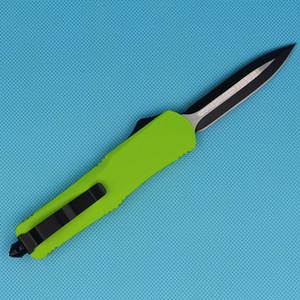 Allvin Yeşil 9 Inç Büyük A07 Oto Taktik Bıçak 440C Çift Kenar Naylon Kılıf Ile Ince Siyah Blade EDC Cep Bıçaklar