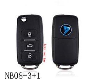 Серия NB08-3+1 KEYDIY NB многофункциональный дистанционный ключ для KD300 и KD900 для того чтобы произвести любой модельный remote с около красным ключом