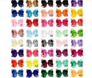 40 Cor 4 Inch curva da fita hairpin Moda clipes meninas Grande bowknot Headwear Crianças Boutique Cabelo Arcos Crianças Cabelo do bebê Acessórios O1