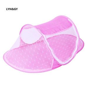 Bebé Recién Nacido Ropa de Cama Protección Mesh Mosquito Net Summer Infant Crib Netting Cama de Bebé Mosquito Insect Cradle Plegable Mosquitera