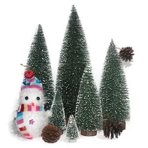 30 cm Noel Ağacı Noel Plastik Ağacı noel Ev Süsler Kar Tanesi Yeni Yıl Masaüstü Süslemeleri Noel Ağaçları