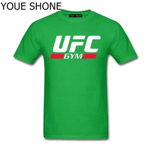 T-shirt uomo marca UFC Ultimate Fighting Letter Stampa T Shirt Harajuku Manica corta tees Casual cotone adulto Tshirt uomo T-shirt Polo