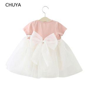 CHUYA Enjoy Baby Girl Kleid 1 Jahr Geburtstag Kleid Spitze Infant Taufe Infantil Bowknot Prinzessin Hochzeitskleid