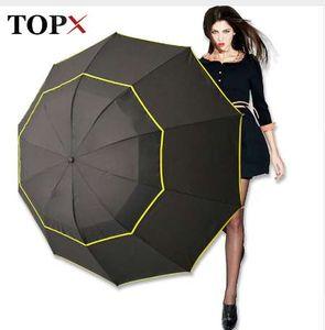 130 cm Große Top Qualität Regenschirm Männer Regen Frau Winddicht Große Paraguas Männlichen Frauen Sonne 3 Floding Großen Regenschirm Outdoor Parapluie