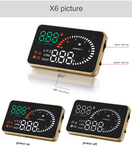 Universal car HUD display automobile head up display projector auto power on off overspeed alarm speedometer driving distance alarm