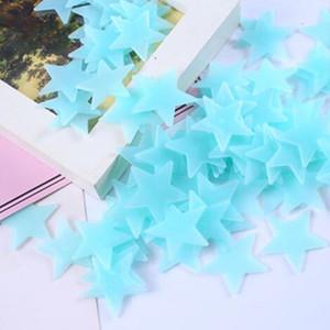 100 шт. / компл. 3D звезды светящиеся стены наклейки светятся в темноте для детская комната Home Decor наклейка стены декоративные специальный Festivel Hotsale