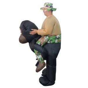 Orangutans Halloween Costumes Gonflables Pour Femme Homme Ride Adulte Sky Horse Air Vêtements Costumes Drôles Fête Des Animaux Carnaval Mascotte WSJ-42