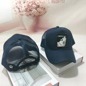 Unisex Animal Embroidery Patch Cotton Mesh Baseball Cap Trucker Hat Snapback New