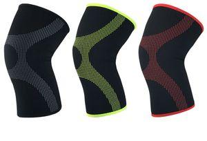 Rodillera deportiva de neopreno comprimido transpirable baloncesto, bádminton, correr, ciclismo guardia de seguridad protector de rodilla manga de la pierna M / L / XL